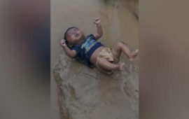 'बच्चा प्राकृतिक आपदा का शिकार हुआ है.'